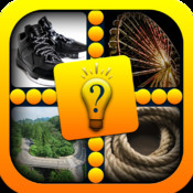 Pics & Guess Word Pro - Cool brain teaser and mind addicting one word four picture puzzle game