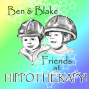 Ben and Blake, Friends At Hippotherapy