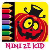 Color Halloween - Coloring exercises for kids