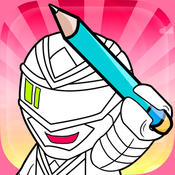 Coloring Game for Power Rangers Edition