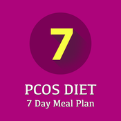 PCOS Diet 7 Day Meal Plan ~ A perfect PCOS diet food plan with grocery list