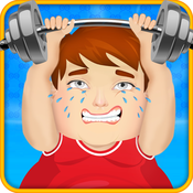 Fat Man Gym - Funny Workout World`s Hardest Game captain barbell