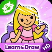 Kids Drawing: Princess - Free Coloring and Drawing for Kids with Princesses, Ponies and Fairy Tale Characters!