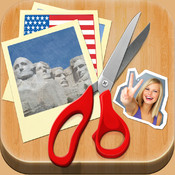 Scrapbook USA - Join Your Pics with American Backgrounds and add a Sticker (or Text!) to Make Quirky Images!