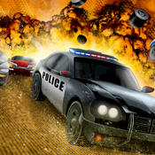A 3D Real Police Car Speed Racing Fighter - High Speed Shooting Race Free Game